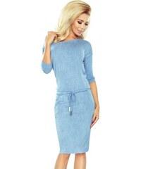 d9046d360a08 Světle modré dámské šaty v riflové stylu 13-80-Woman