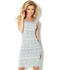 bdbe14eb3fa1 Vzorované dámské šaty Tiffany - šedé 53-15-Woman
