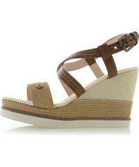 ca2f0b0208 Moow Béžovo-hnedé platformové sandále Jeane