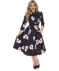b87a94defd95 Dedoles Retro pin up šaty s rukávem Květový sen S