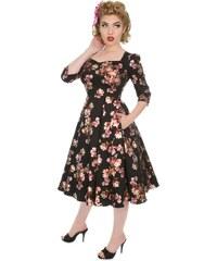 d195a29efd85 Dedoles Retro pin up šaty s rukávem Magnólia S