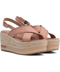 abb4d7263ab2 Tommy Hilfiger svetlo hnedé sandále na platforme Flatform Sandal Tommy  Pastel Silky Nude
