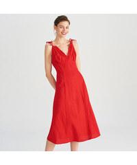 170f6bca7d Reserved - Lenben gazdag viszkózkeverékből készült ruha - Piros
