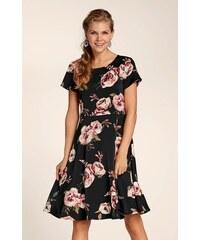 64ef7cd24e8d Bielo-čierne vzorované šaty s 3 4 rukávom LA Lemon - Glami.sk