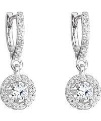 aa9601c124 Šperky pro tebe Stříbrné náušnice s přívěskem Zářící kruh