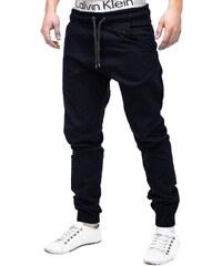 7d6ff0127874 Ombre Clothing Pánske jogger nohavice P205 - tmavomodré 3284