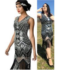 26987614af77 Art deco čierne spoločenské šaty a lá Veľký Gatsby AMH007390