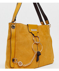 6adca7f5f7 River Island slouch bag with ring detail in yellow - Yellow