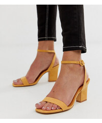 a2d752ad2d92 Mango two part mid sandals in yellow - Yellow