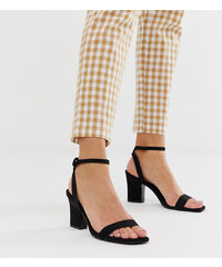 23a8ac124489 Mango two part mid sandals in black - Black