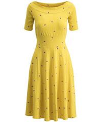 7b0e6916101d Blutsgeschwister žluté šaty Roswitas Dolcevita