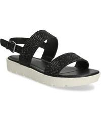 0deab9138e97 Bata Red Label Sandále čierne s trblietkami