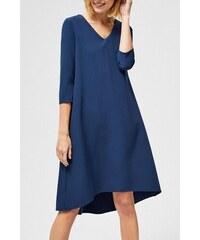 6efaae640a Moodo tmavo modré šaty s trojštvrťovým rukávom