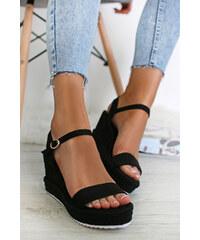 14b7979f7d3e Ideal Čierne platformové sandále Evadne