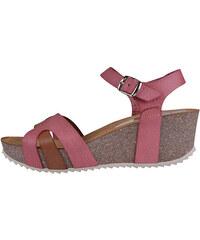 c49fa3413f9c Koralové dámske sandále na platforme Tommy Hilfiger - Glami.sk
