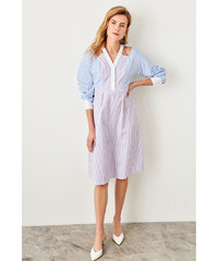 4b19f22a805a Trendyol Multicolor Striped Dress Multi