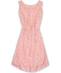 0faf6c255855 Trendovo Ľahké letné šaty s kvetinovou potlačou ružové