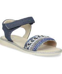 964f2a5326aa Mini B Dievčenské sandále s kamienkami modré