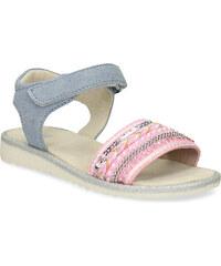 75539fe38883 Mini B Dievčenské sandále s kamienkami ružové