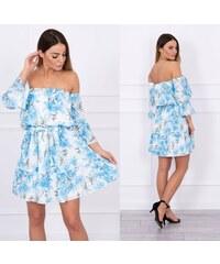 0f640709059a Kesi Květované šaty carmen výstřih Retha modré