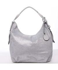 82de78b633 Letné perforovaná dámska kabelka cez rameno šedá - Maria C Nicol šedá