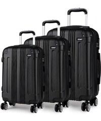 53b7f43949 Černý cestovní kvalitní prostorný set kufrů 3v1 Amol