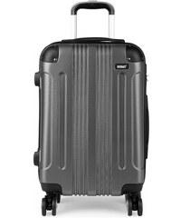 ed43e9cc4a Šedý cestovní kvalitní prostorný malý kufr Amol