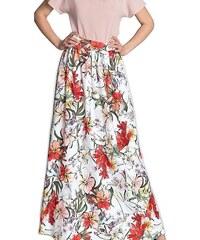 d396056fe1df ONLY zeleno-bílá květovaná maxi sukně Nova L - Glami.cz