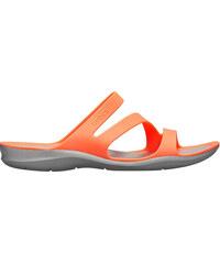 5b0a05f10ecc Crocs Dámske šľapky Swiftwater Sandal Paradise Bright Coral Light Grey  203998-6PK