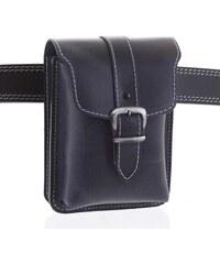 adfb5fa9ab Pánská kožená kapsa na opasek černo modrá - Kabea Hepp 2 čierna