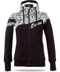 eaf08850bd Dámská softshell bundomikina s kapucí na zip Barrsa Double Soft Script  Black Folk Black