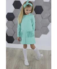 3a748d6c7e50 All for kids Dievčenská tunika šaty so strapcami MM 595 mint strapce