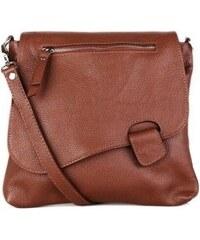 6e8126709 Talianske dámske kožené kabelky dámske cez rameno stredné hnedé Olina, NEW