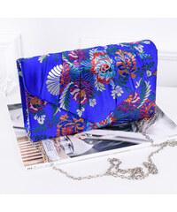 04b2c017b4 ikabelky Dámska spoločenská kvetinová kabelka K-H2094 kráľovská modrá