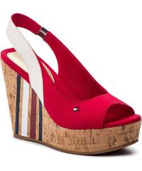 1a876c9ad7 Szandál TOMMY HILFIGER - Sling Back Wedge Sandal Stripes FW0FW03839 Tango  Red 611