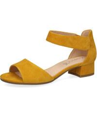 61cf14e6ce11 Caprice dámské semišové sandále na podpatku 9-28212-22 641 žluté