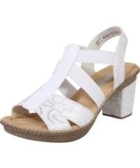5f805bbc40 RIEKER Sandály stříbrná   bílá
