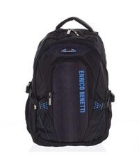 806487eabf Turistický černo modrý batoh - Enrico Benetti Alan modrá