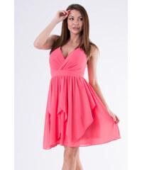 d2c7ada2e96d Perfect Krátké volánkové letní šaty s vázáním za krk