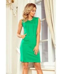 81bba103379c Numoco dámské úpletové sportovní šaty 009-7 zelené
