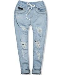 b86799abf692 Butikovo Svetlomodré jeans nohavice s dierami