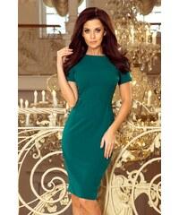 c955161095a4 Numoco Elegantní šaty v zelené barvě