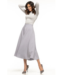 06cc8250b2d8 Jersey šedá sukňa s vreckami a s vysokým pásom LC65053-11 - Glami.sk