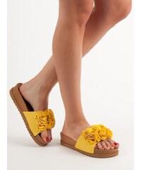 7e9c19603cef ... na vybrané produkty. NEW LOOK Páskové sandály koňaková. V 7  velikostech. Detail produktu · Primavera Žluté nazouváky s aplikací květin