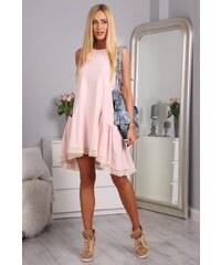 3ffa7db61308 FASARDI Svetloružové šaty bavlnené  SML