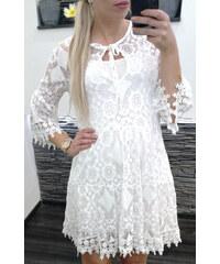 3fa6c14861cb miLADY Dámské bílé háčkované boho šaty