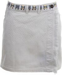 1d8997791e8c DESIGUAL dámská zavinovací sukně Bílá