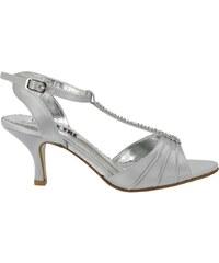 c800d5a1e0a2 Pásková společenská obuv Effe Tre stříbrná