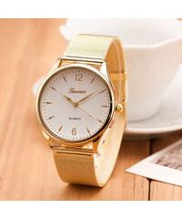 c43c8011d2 Načančaná.cz Zlaté páskové hodinky Geneva dámské