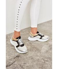 3393d58d4fbe Trendyol Silver Metallic Women s Sneaker Silver